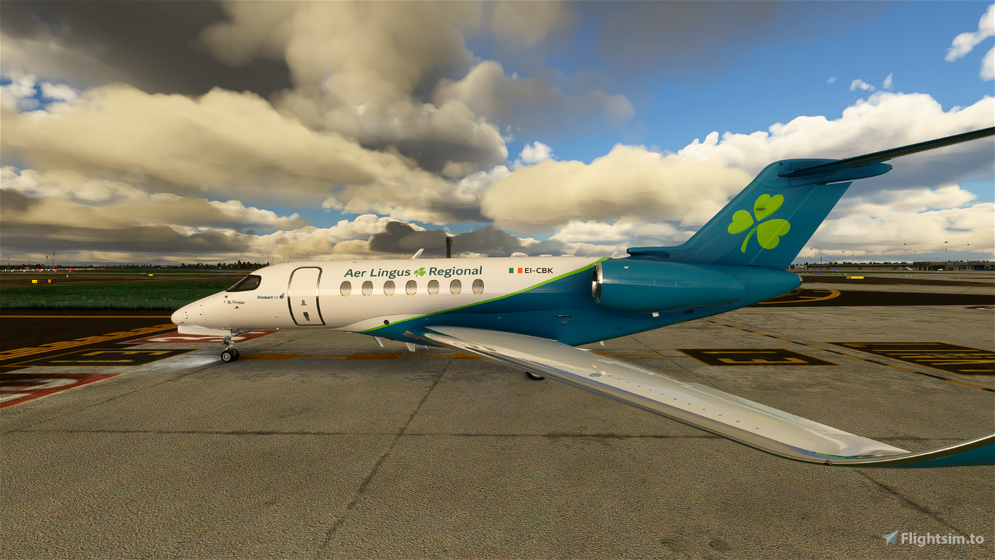 Aer Lingus Regional Cessna Citation Longitude [4k]