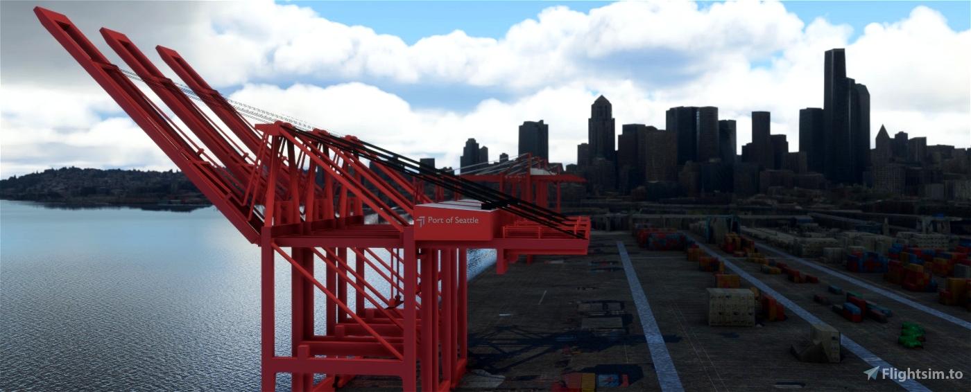 Puget Sound Cargo Terminals, Seattle and Tacoma WA USA Flight Simulator 2020