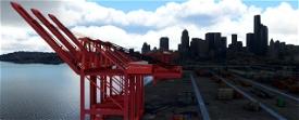 Puget Sound Cargo Terminals, Seattle and Tacoma WA USA Image Flight Simulator 2020