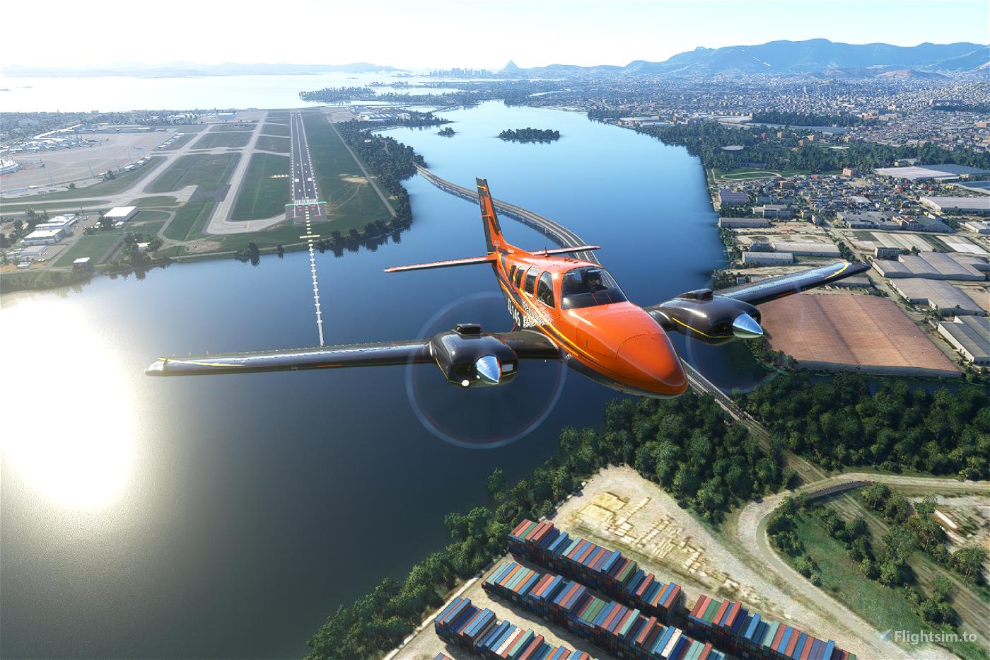 Beechcraft Baron G58 X series (now 9 colours) Flight Simulator 2020