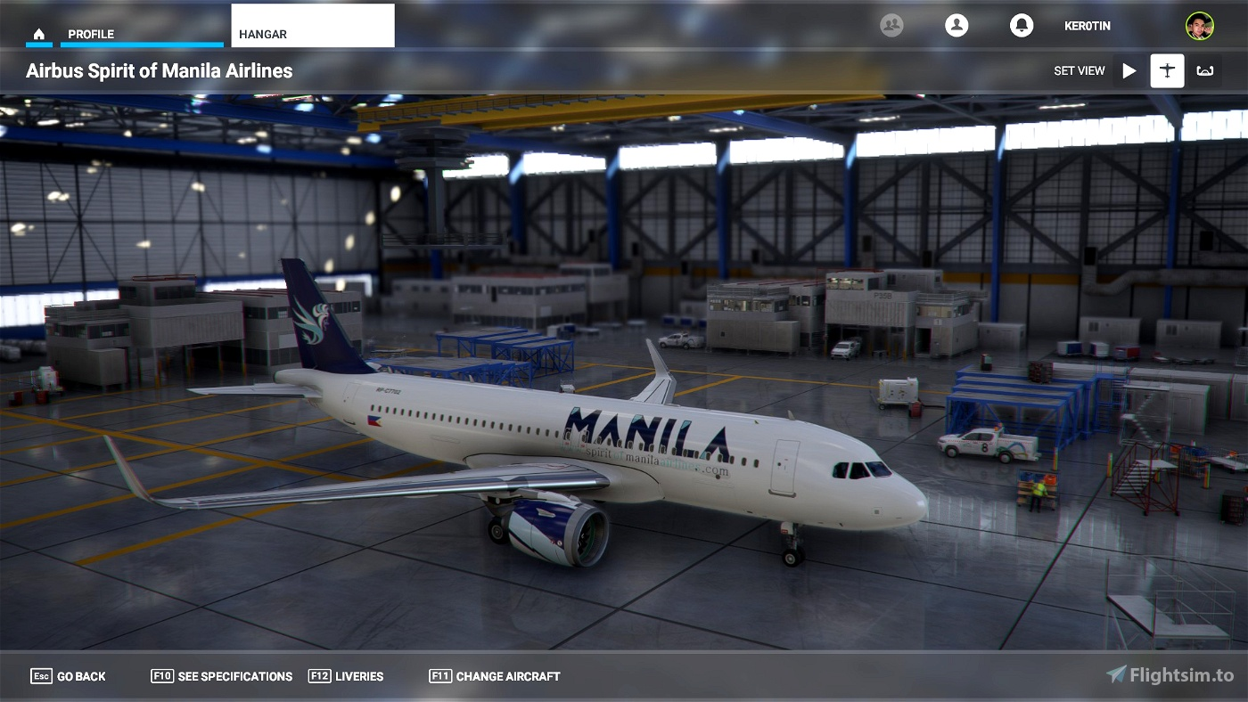 A32NX Spirit of Manila Airlines