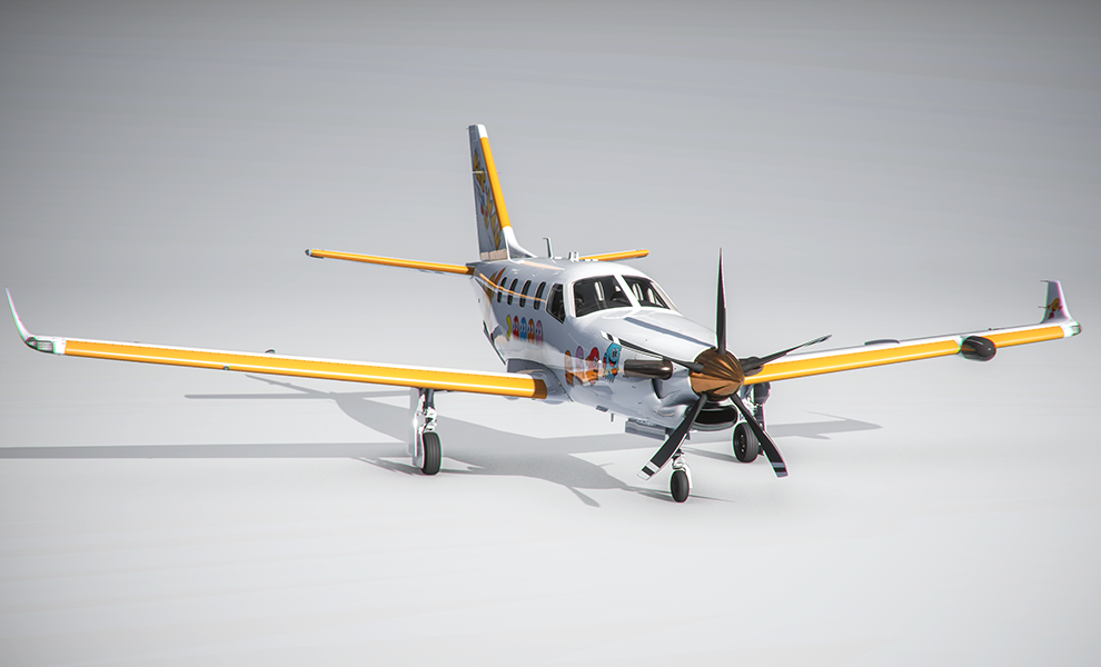 TBM 930 Air Pacman Trimmed Flight Simulator 2020