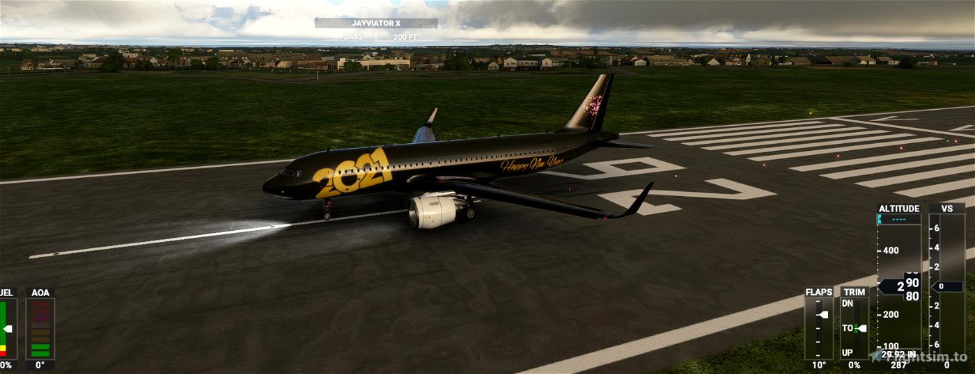 A320 Neo New Year 2021 Livery Flight Simulator 2020