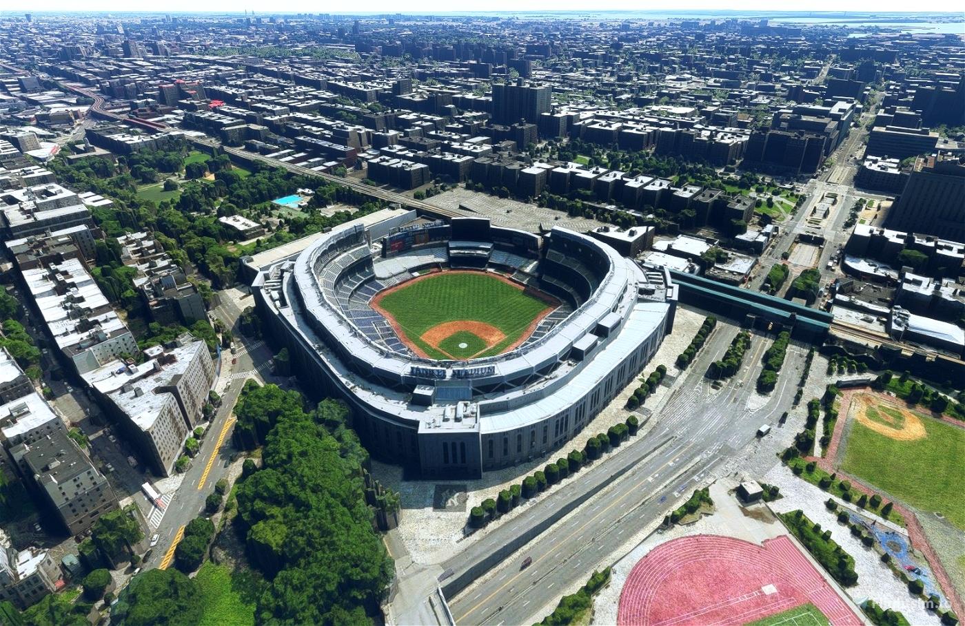 Yankee Stadium, Bronx New York NY USA Flight Simulator 2020