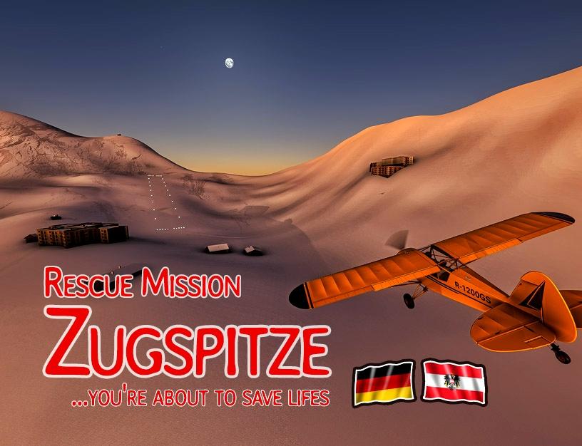 Zugspitze - Rescue mission (DE,EN) Flight Simulator 2020