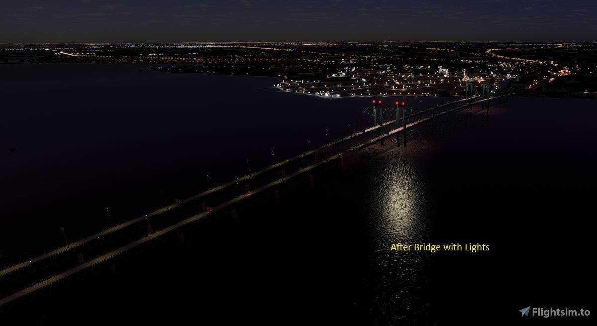 Delaware Memorial Bridge Flight Simulator 2020