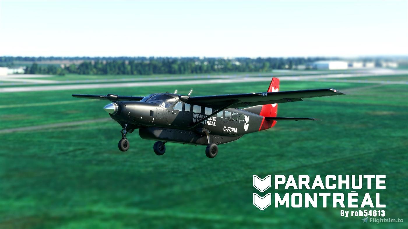 Parachute Montreal Cessna 208b Grand Caravan EX Livery Flight Simulator 2020