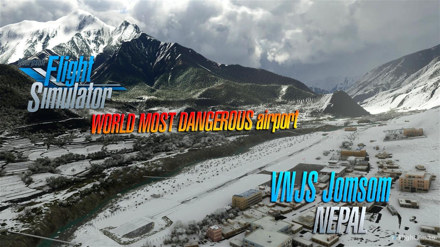 Jomsom Airport VNJS (Nepal) V1.3 Flight Simulator 2020