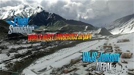 Jomsom Airport VNJS (Nepal) V1.3 Image Flight Simulator 2020