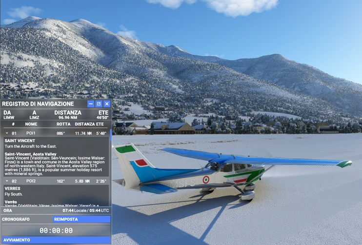 Western Italy Bush Trip - VFR - 18 Stages Flight Simulator 2020