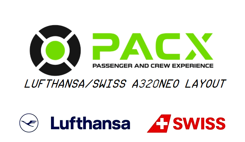 Lufthansa/Swiss a320neo layout for PACX Flight Simulator 2020