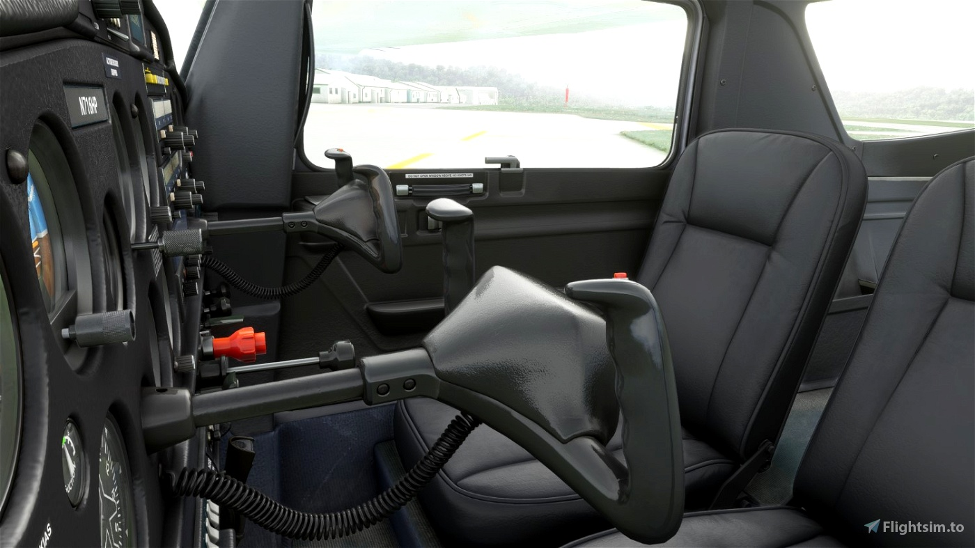 C152 - Black interior Flight Simulator 2020