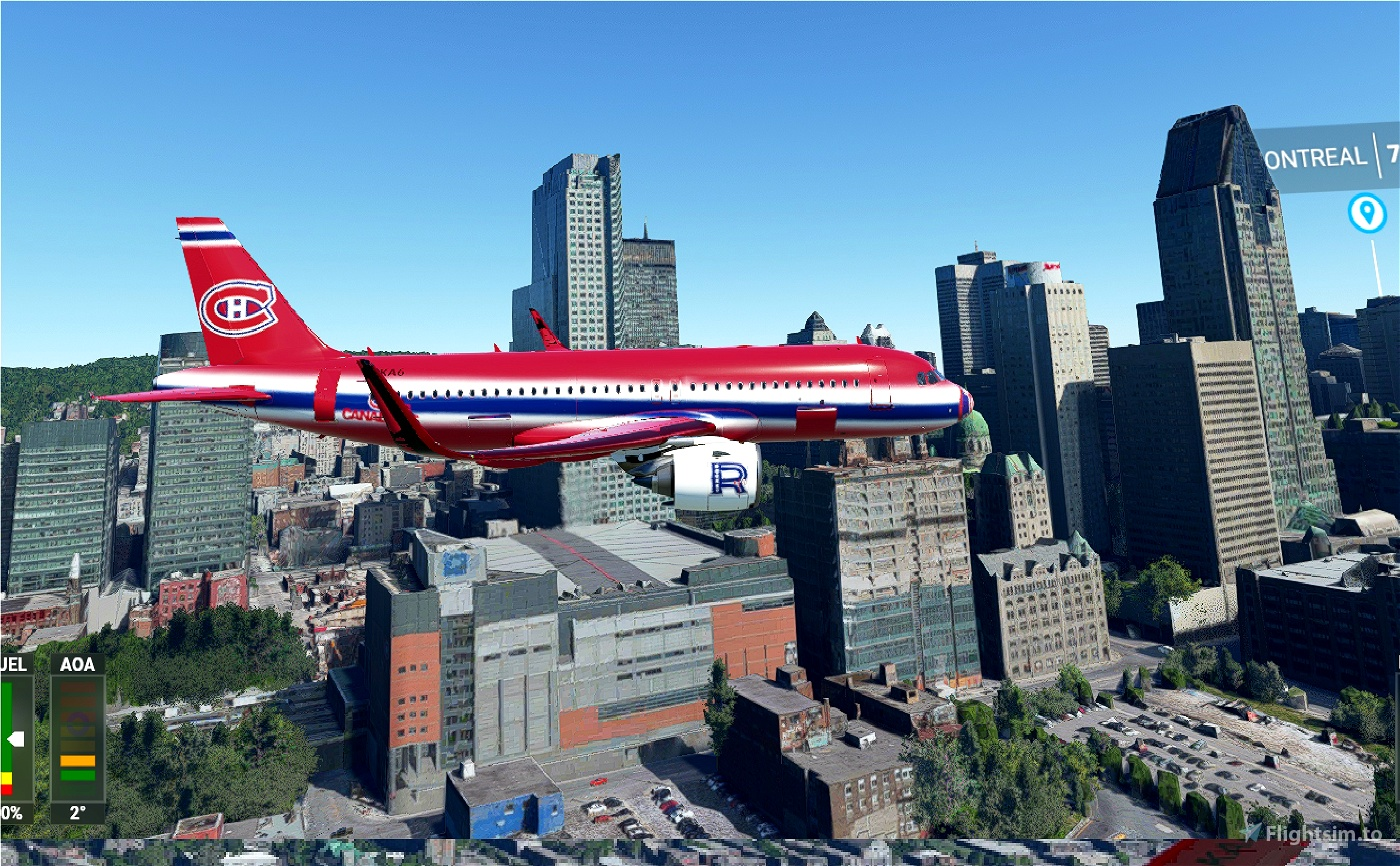 A320Neo Montreal Canadiens