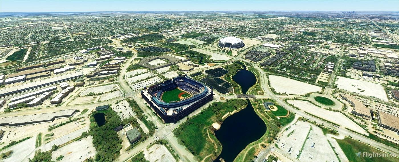 Globe Life Park, Arlington TX USA Flight Simulator 2020