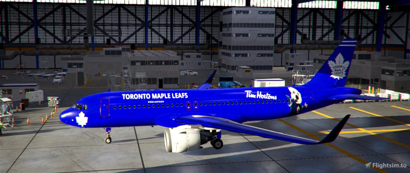 A320Neo Toronto Maple Leafs Flight Simulator 2020