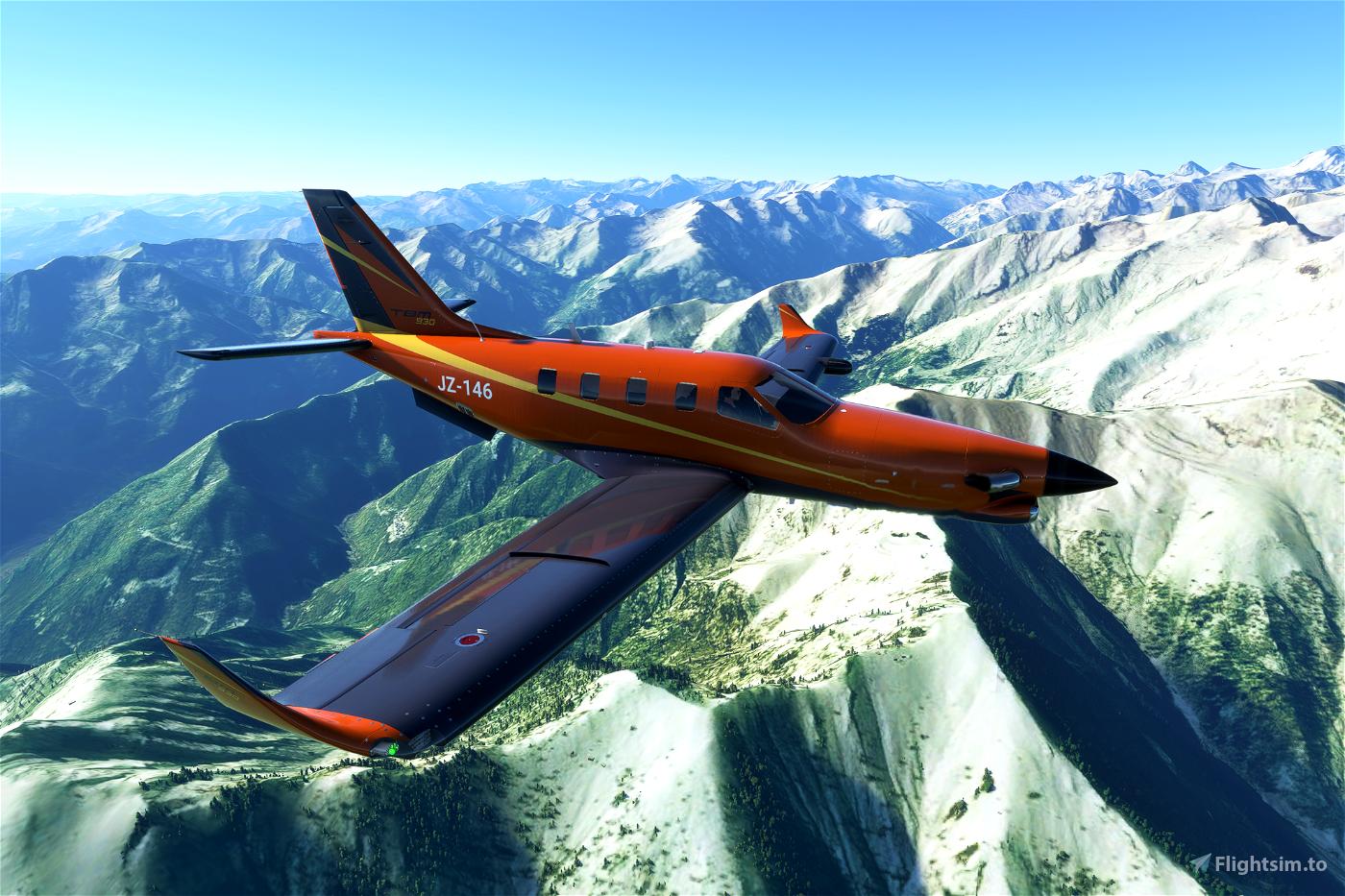 Daher TBM 930 X series (now 9 colours) Flight Simulator 2020