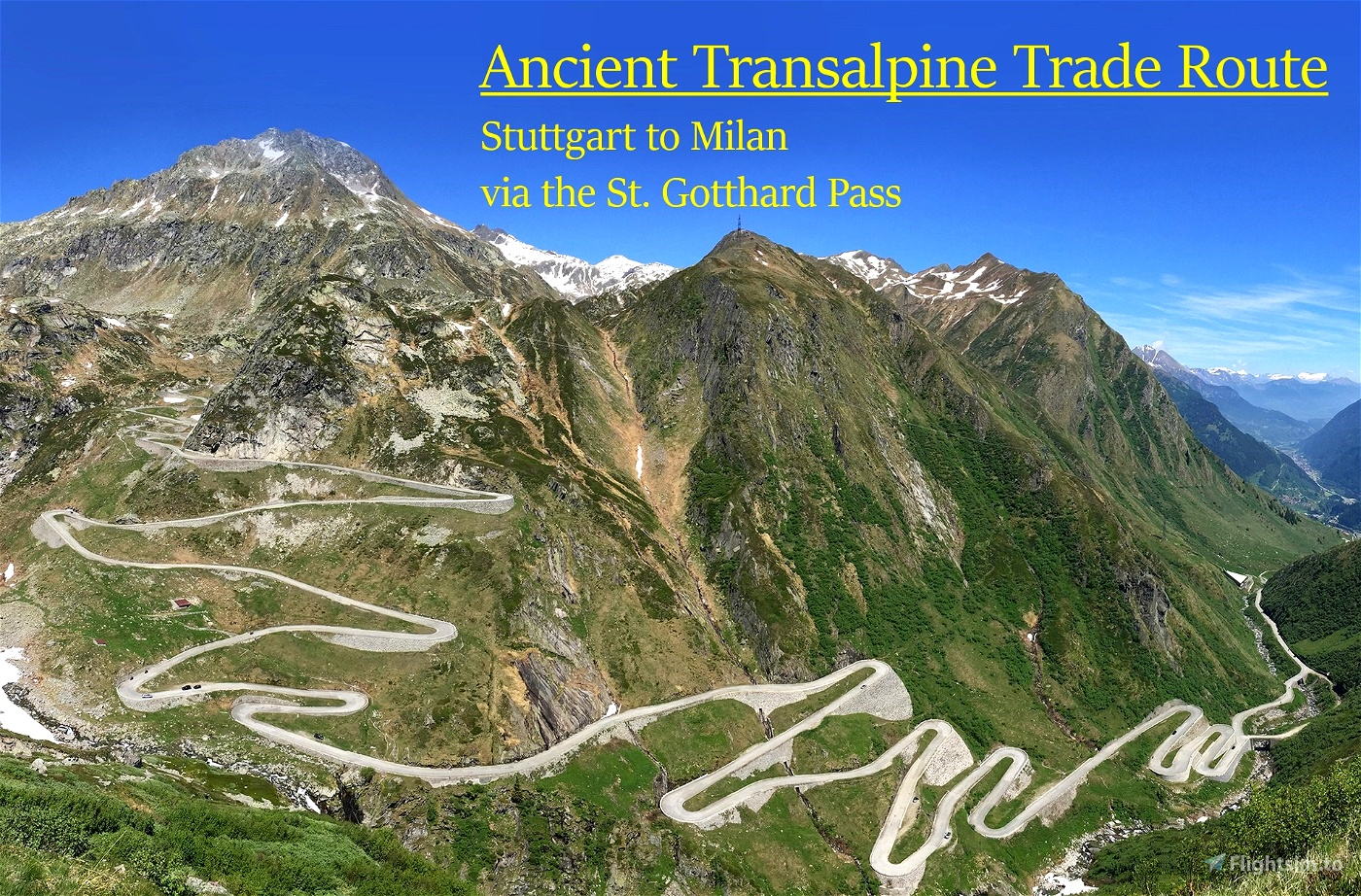 Medieval Transalpine Trade Route Flight Simulator 2020