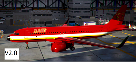 A320Neo Calgary Flames Image Flight Simulator 2020