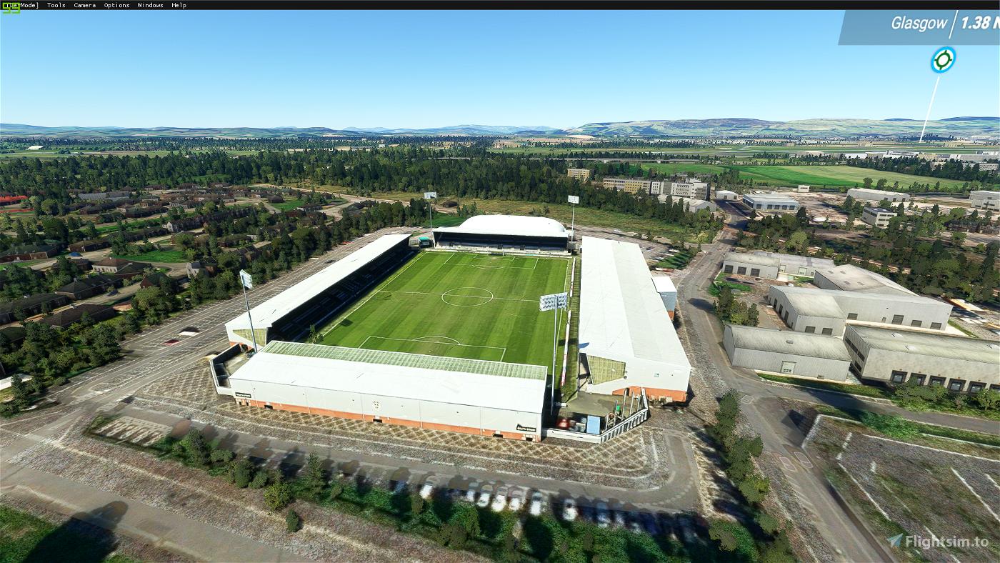 By request St Mirren Park football stadium, Paisley, Scotland Flight Simulator 2020