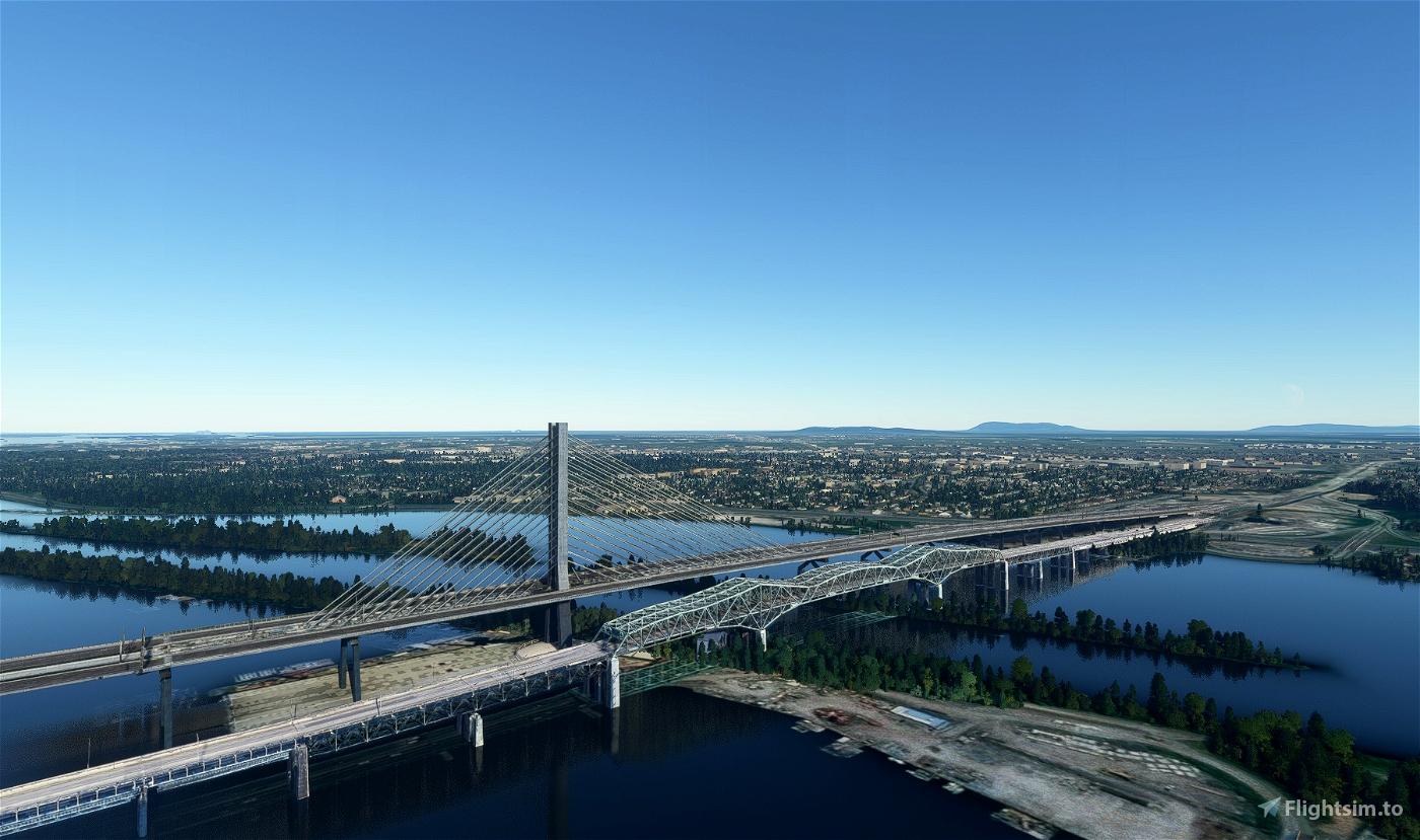 The old Champlain bridge Flight Simulator 2020