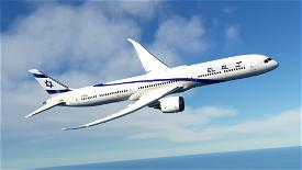 El AL Israel B787-10 [4K] 4X-EDA Image Flight Simulator 2020
