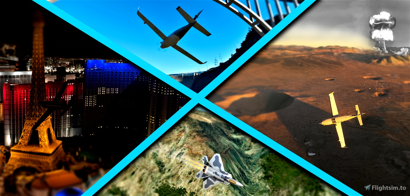 Edwards AFB to Homey: Star Wars Canyon, Vegas and Area 51 Flight Simulator 2020