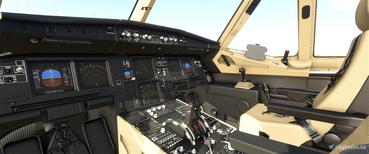 JD Cockpit Livery A320NEO Black/Beige/Beige Flight Simulator 2020