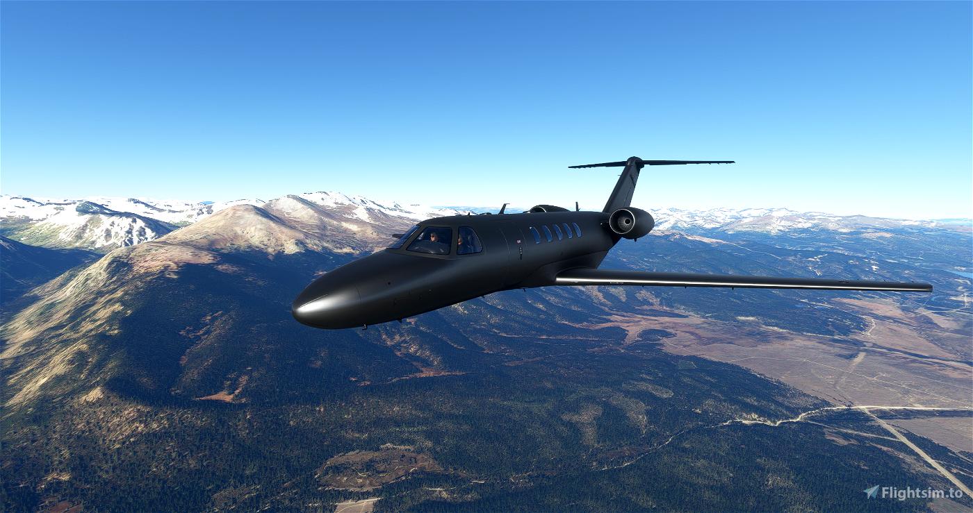 CJ4 Gunmetal Livery with dark interior Flight Simulator 2020