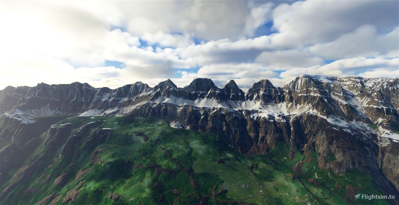 Churfirsten (Mountain Range) Switzerland Flight Simulator 2020