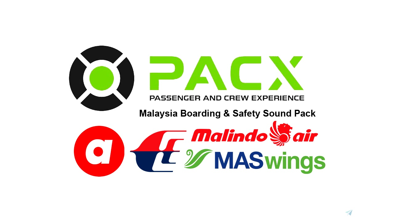 Malaysia Boarding & Safety Soundpack for PACX Flight Simulator 2020
