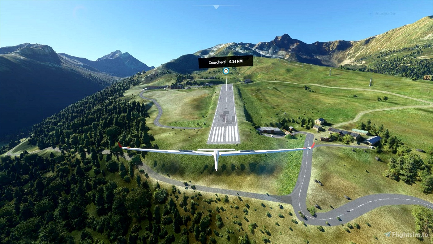 Courchevel Soaring Task with built in Landing Challenge