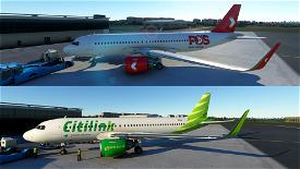 PosLaju & Citilink Garuda Image Flight Simulator 2020