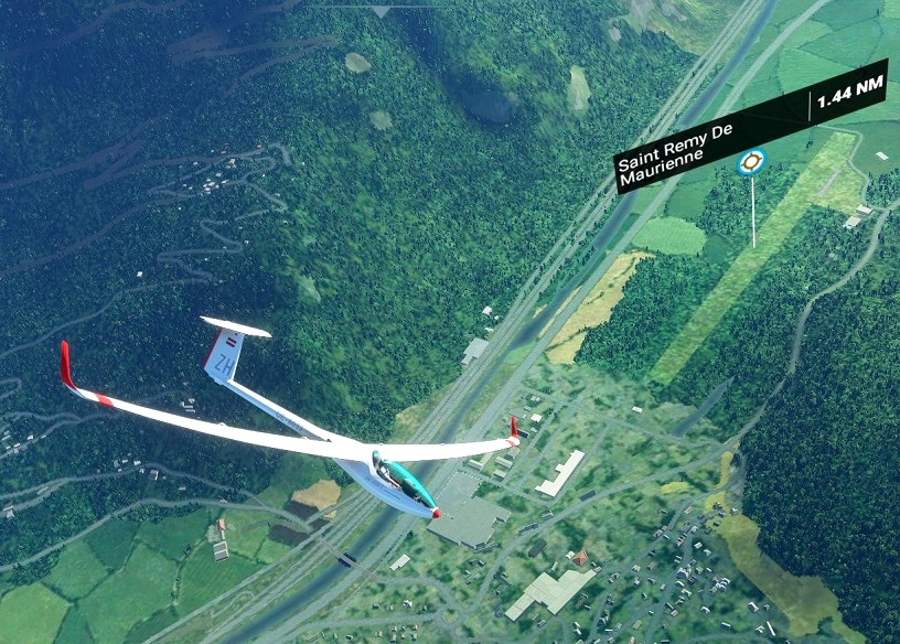 Courchevel Soaring Task with built in Landing Challenge Flight Simulator 2020