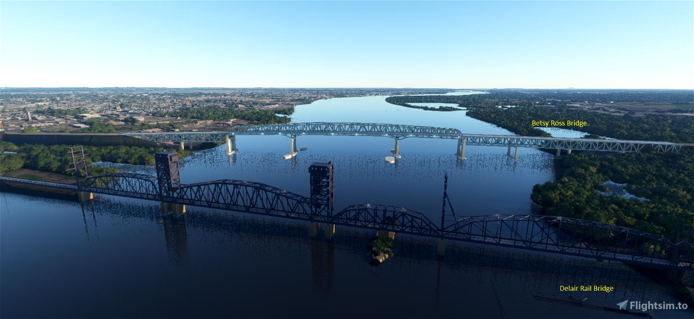 Delair Rail Bridge, Philadelphia, Pa. Flight Simulator 2020