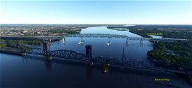 Delair Rail Bridge, Philadelphia, Pa. Image Flight Simulator 2020