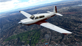 White Gold and Maroon Livery for Carenado Mooney Image Flight Simulator 2020