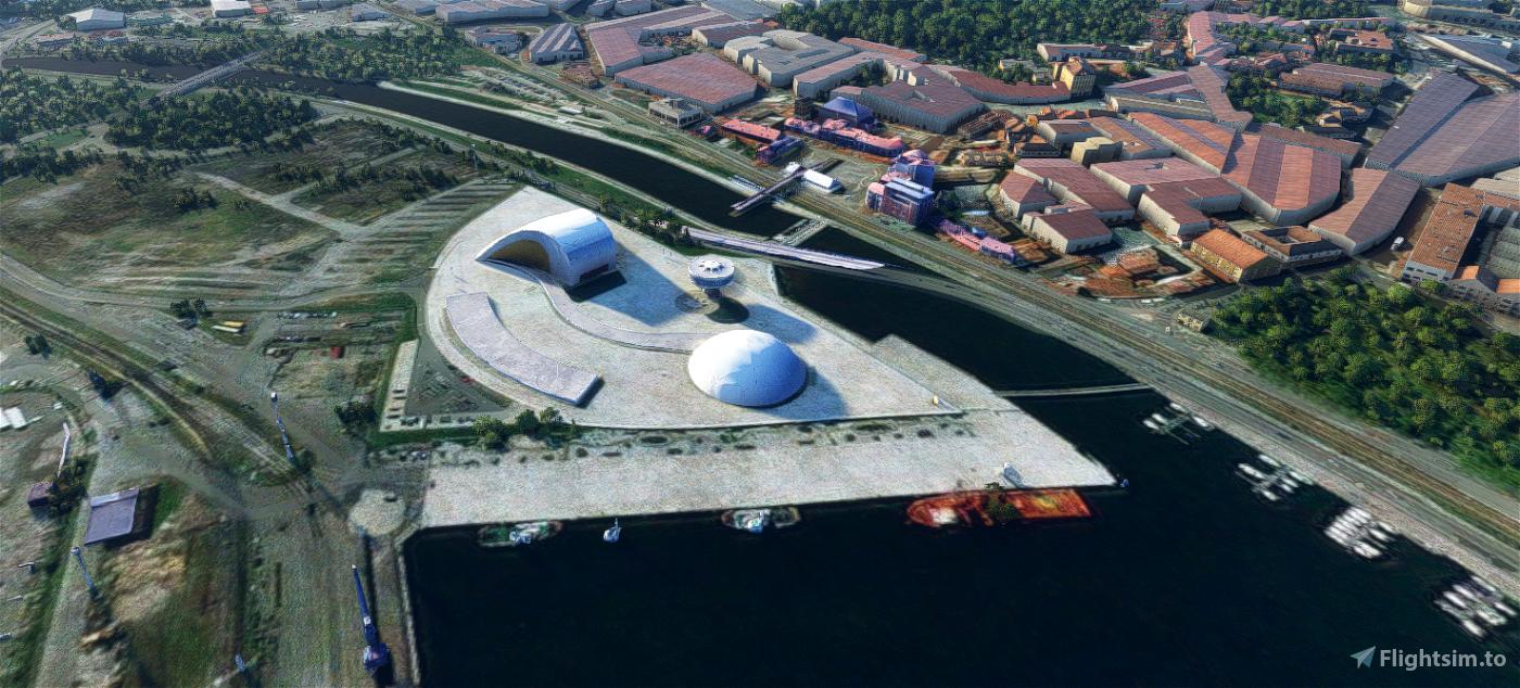 Centro Niemeyer, Avilés, Asturias Flight Simulator 2020