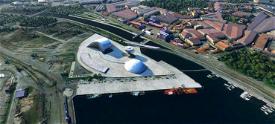 Centro Niemeyer, Avilés, Asturias Image Flight Simulator 2020