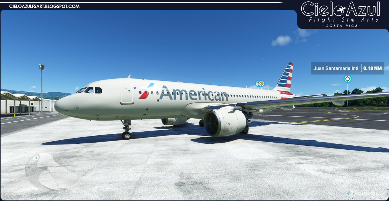 American Airlines   N12028   Asobo Airbus A320neo (8K)