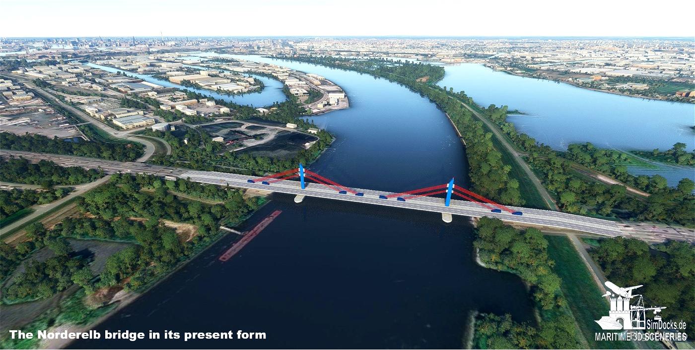 Nothern Elbe Bridge - Hamburg (future form) Flight Simulator 2020