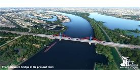 Nothern Elbe Bridge - Hamburg (future form) Image Flight Simulator 2020