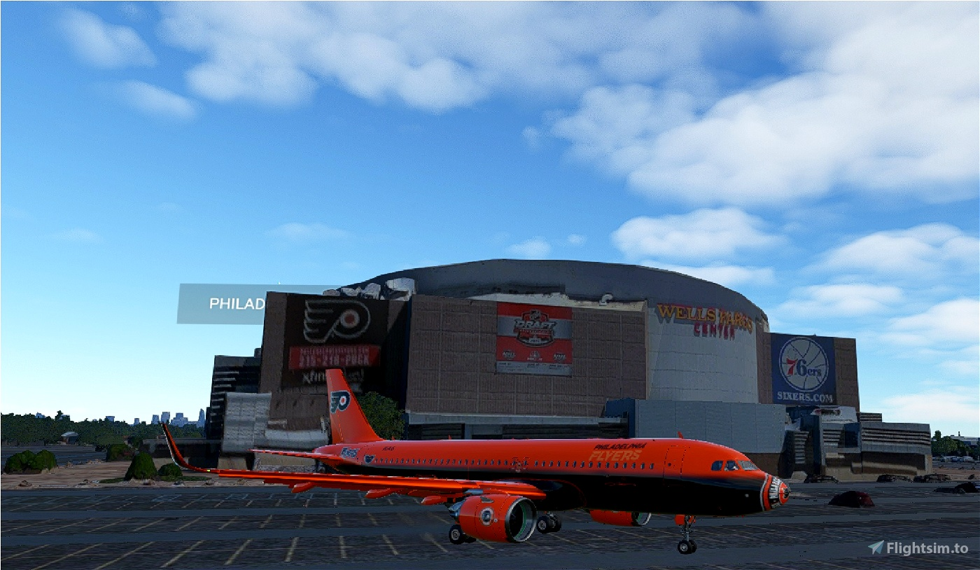 Philadelphia Flyers A320Neo NHL Livery Flight Simulator 2020