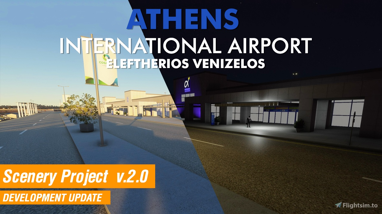 Athens Intl. Airport Eleftherios Venizelos (LGAV) Scenery Flight Simulator 2020
