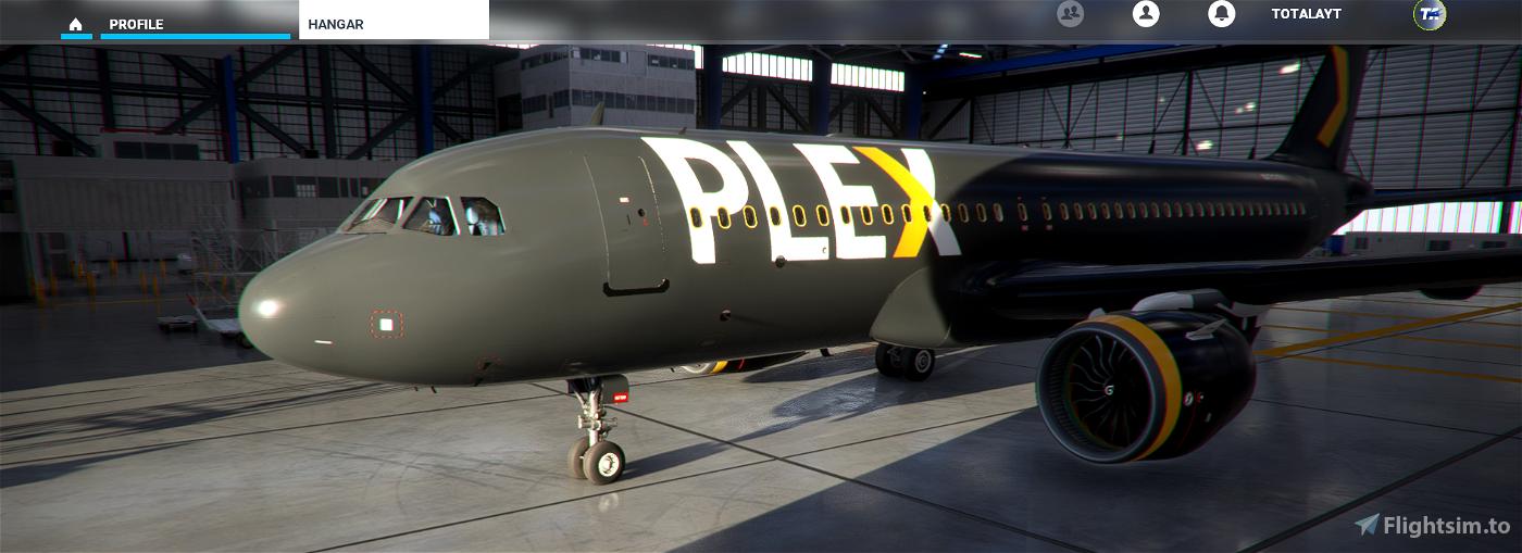 Plex A320 Custom Livery  Flight Simulator 2020