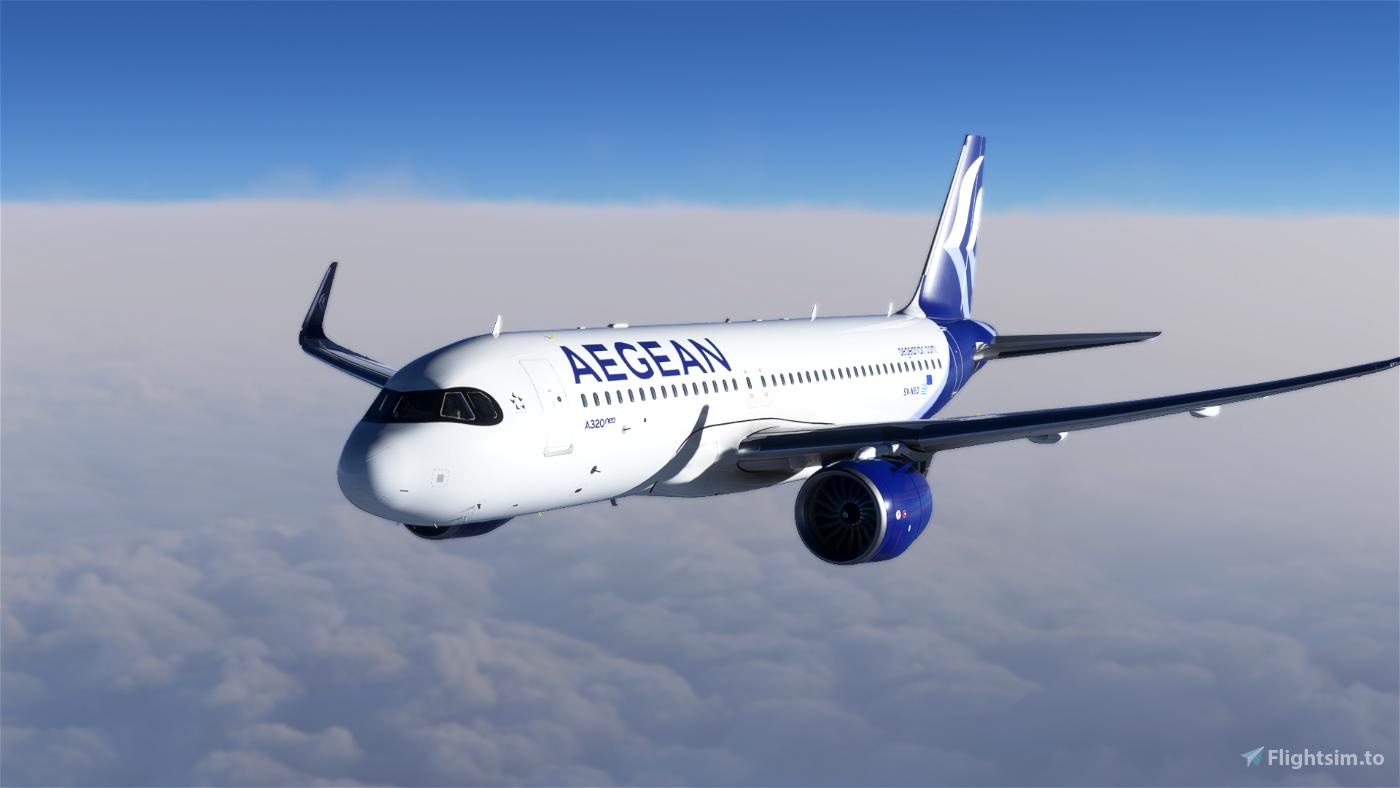 [A32NX] [8K] Aegean Airlines (SX-NEO) Flight Simulator 2020