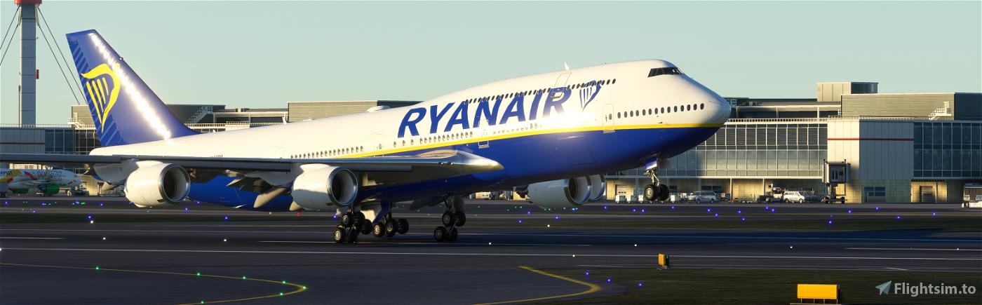 747-8I Ryanair (4k, Right Side, working) Flight Simulator 2020
