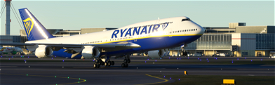 747-8I Ryanair (4k, Right Side, working) Image Flight Simulator 2020