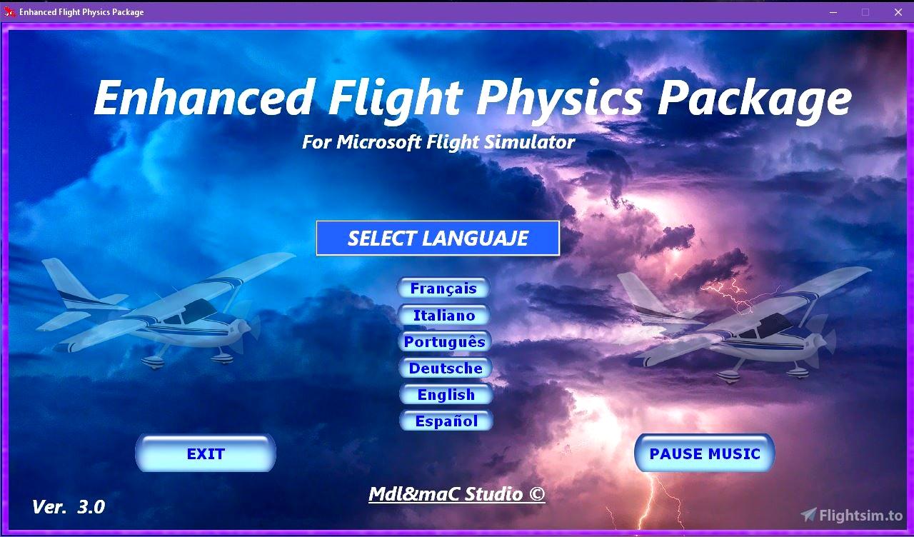 Enhanced Flight Physics Package Flight Simulator 2020