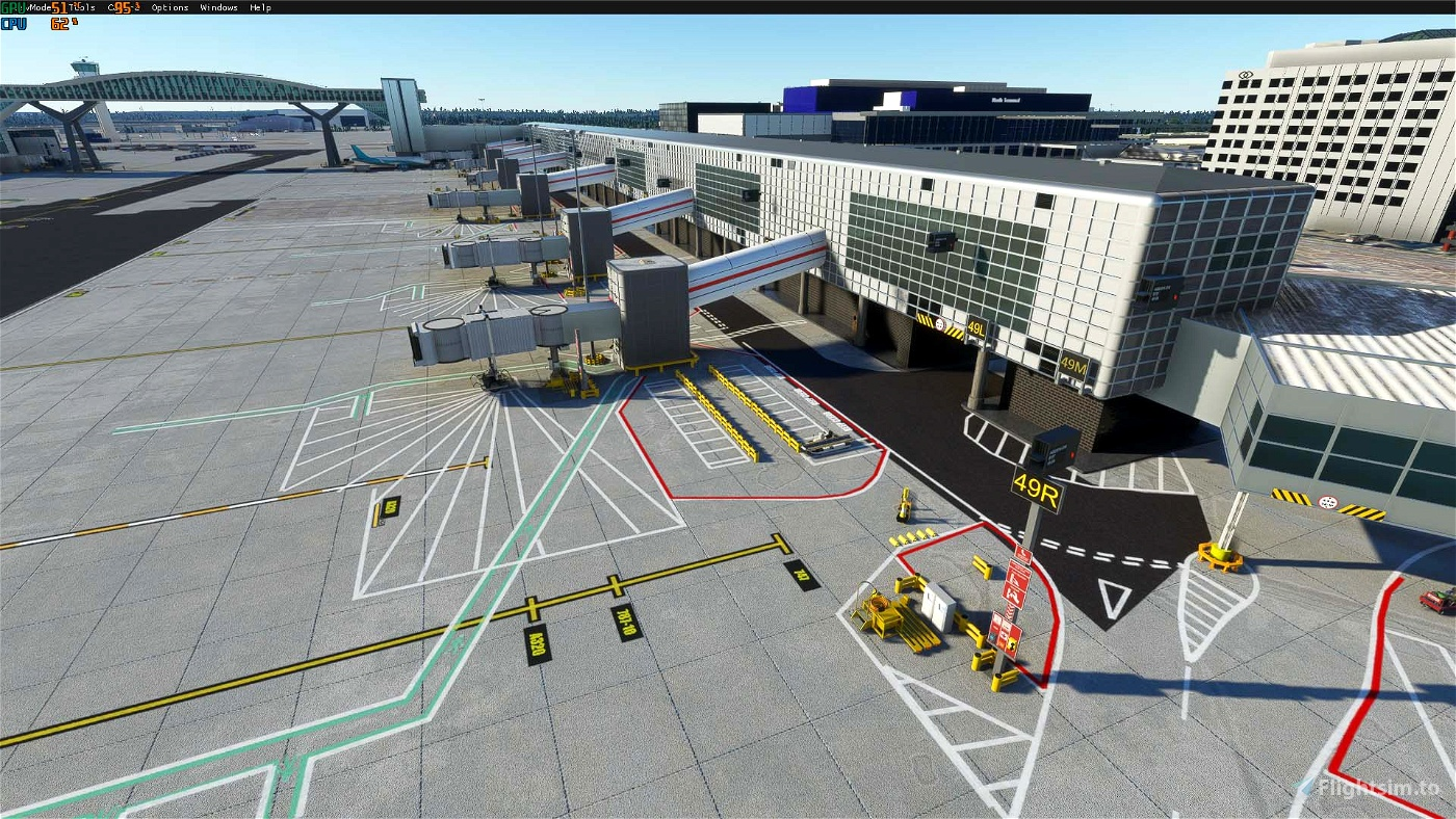 Gatwick Airport EGKK Ultra Full Edition: Custom Runways/taxiways/aprons/parking/buildings and Models