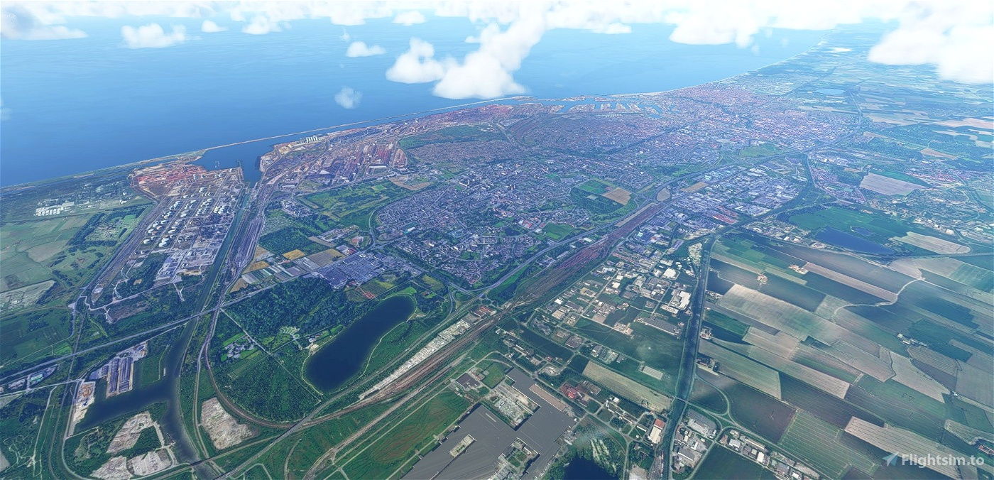 Dunkerque city, France Flight Simulator 2020